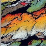 """268 - 3 x (85 x 85) - """"Wenn die Welt..."""" - Farb-, Materialcollage - 2005"""