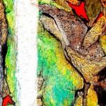 """270 - 140 x 85 - """"Wenn die Welt zerbricht..."""" - Farb-, Materialcollage - 2007"""