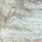 "283 - 105 x 105 - ""Eiszeit"" - Farb-, Materialcollage - 2012"