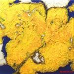 "285 - 105 x 105 - ""Odin"" - Farb-, Materialcollage - 2012"