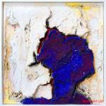 "289 - 109 x 109 - ""Freya"" - Farb-, Materialcollage - 2013"