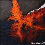 """291 - 105 x 105 - """"Sprites"""" - Farb-, Materialcollage - 2014"""
