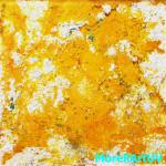 """296 - """"Sole o uova strapazzate?"""" - 105 x 105 - Farb,- Materialcollage - 2015"""